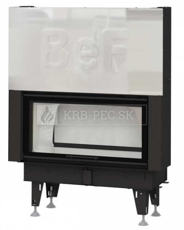 BeF Twin V 10 N II kvalitná, dizajnová teplovzdušná krbová vložka s výsuvnými dvierkkami a zadným prikladaním krb-pec