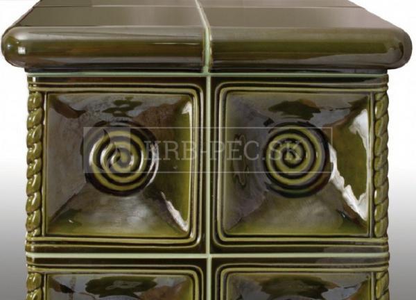Hein ALAKO 3 keramické krbové kachle so šamotovým ohniskom krb-pec