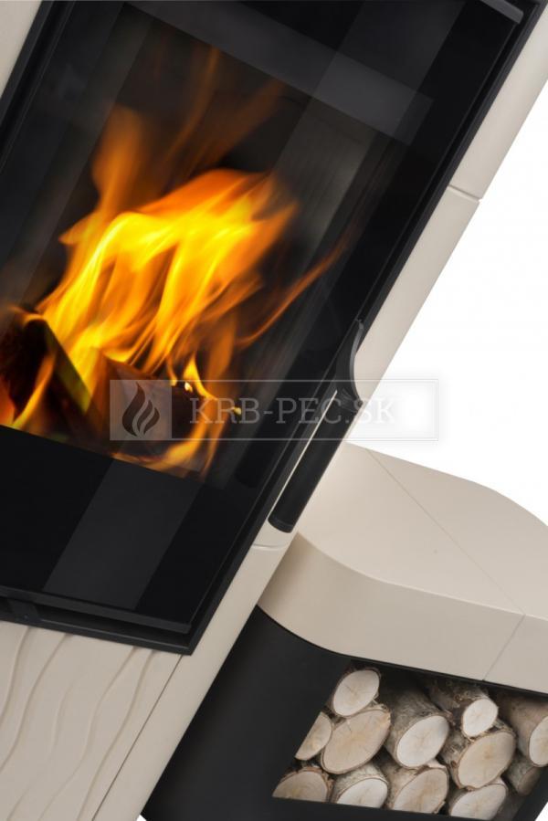 Hein Dolo 2 keramické krbové kachle so šamotovým ohniskom krb-pec