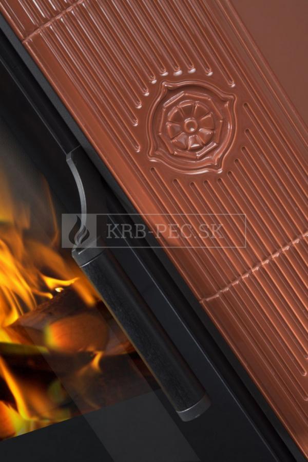 Hein Este 1H keramické krbové kachle so šamotovým ohniskom krb-pec