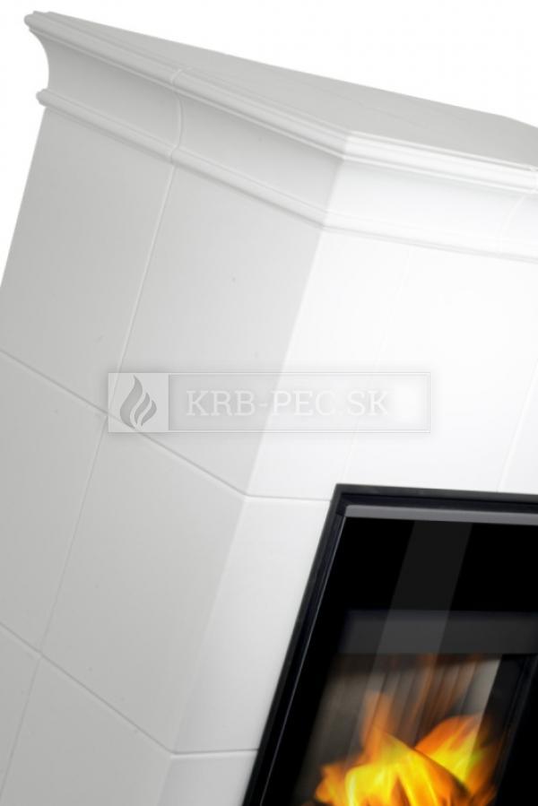 Hein Este 6 moderné keramické krbové kachle so šamotovým ohniskom krb-pec