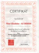 Austro Flam - Certifikát o absolvovaní odborného školenia - AZ DESIGN - Tibor Chudoba krb-pec