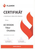 Flamen certifikát - Odborné školenie - AZ DESIGN - Tibor Chudoba krb-pec
