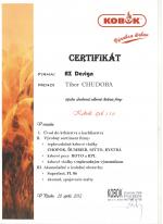 Kobok certifikát - Odborné školenie - AZ DESIGN - Tibor Chudoba krb-pec