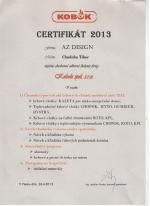 Kobok certifikát - Odborné školenie č.2 - AZ DESIGN - Tibor Chudoba krb-pec