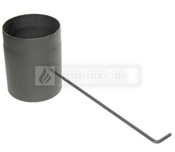 Dymovod klapka o150/2 šedá