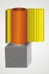 Stadreko - Jednoprieduchový komínový systém z prefabrikovaných tvárnic s vatou Ø 160 krb-pec