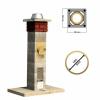 Stadreko - Jednoprieduchový komínový systém z prefabrikovaných tvárnic s vatou Ø 180 krb-pec