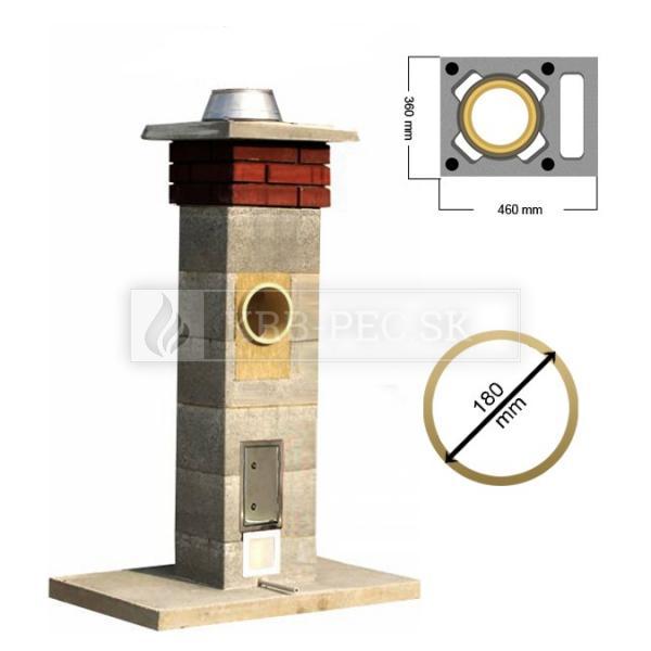 Stadreko komín s vetracou šachtou Ø 180 mm