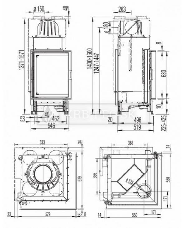 Austroflamm KV 55x55x68 K