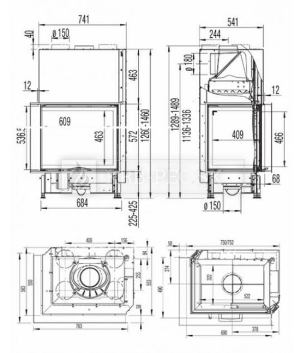 Austroflamm KV 69x49x57 S
