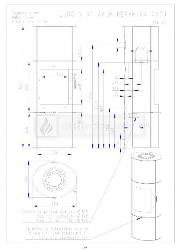 Romotop akumulačné keramické krbové kachle LUGO N 01 AKUM krb-pec
