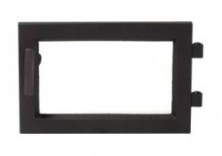 Regency dvere čierne moderné krb-pec