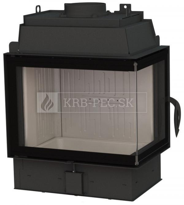 BeF Fire Bear 7 CP teplovzdušná krbová vložka rohová pravá krb-pec