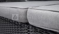 Keter Salta dvojsedadlová záhradná pohovka grafitová krb-pec