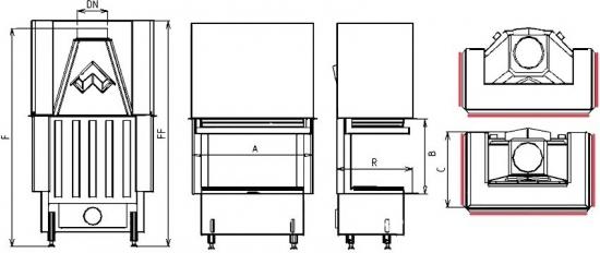 2R90 S-380 portál krb-pec