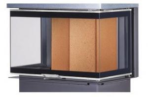 Kobok Chopok 2R90 S/500 - trojstranné presklenie krb-pec