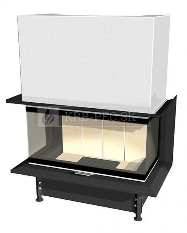 Kobok Chopok 2R90 S/500 VD 695/450 510 570 trojstranná krbová vložka s výsuvnými dvierkami krbyonline