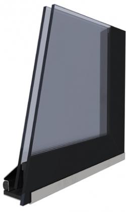 Kobok Kazeta R90 - druhé sklo modern krb-pec