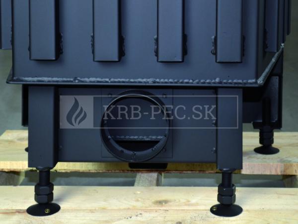 Kobok Kazeta R 90 S/380 VD L/P 780/450 510 570 rohová krbová vložka s výsuvnými dvierkami krb-pec