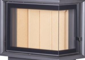 Kobok EKO R90-S/330, LD 670/510 teplovzdušná krbová vložka s rohovým presklením - presklenie krb-pec