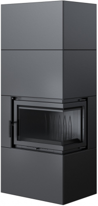 Kratki SIMPLE 8 BOX teplovzdušná oceľová krbová vložka s rohovým presklením