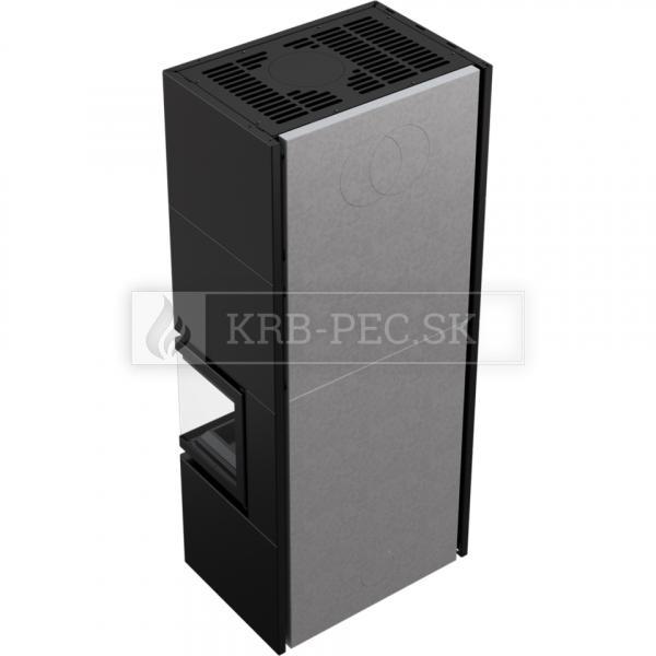 Kratki SIMPLE 8 BOX teplovzdušná oceľová krbová vložka s rohovým presklením krbyonline