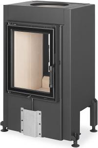 Romotop DYNAMIC 3G 44.55.01 teplovzdušná pecová vložka priehľadná s rovným dvojitým presklením