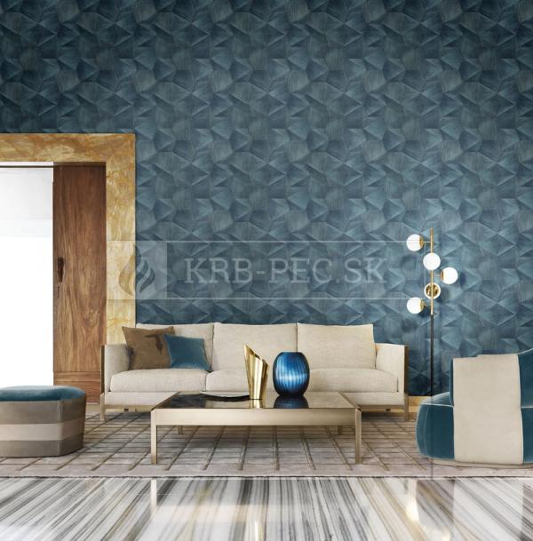Zambaiti Parati - Trussardi Wall Decor 5 #Z21852 luxusná vliesová tapeta s vinylovým povrchom krb-pec