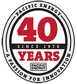 Pacific Energy 40 years logo krb-pec